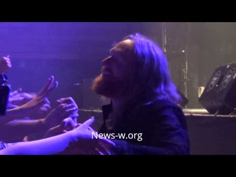 Dark Tranquillity 's M. Stanne & A. Jivarp greet fans after Moscow live show in YOTASPACE 29.01.2017