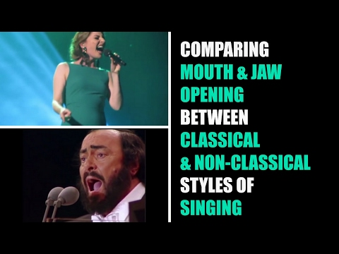 Comparison of Jaw and Mouth Opening in Classical and Non-Classical Styles of Singing