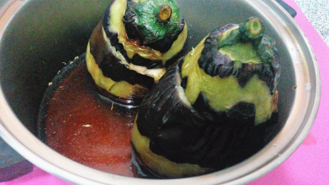 En Güzel Ev Yemekleri / Tavuk etli bostan patlıcan dolması tarifi