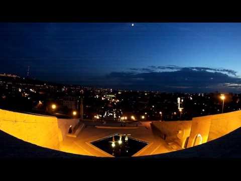 Cascade, Yerevan, Armenia. Timelapse, Yerevan Night