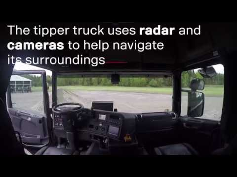 A self-driving Scania truck