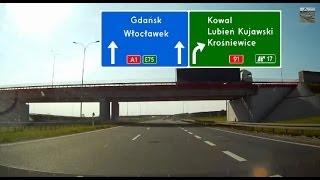 Autostrada / Highway A1 Łódź - Toruń