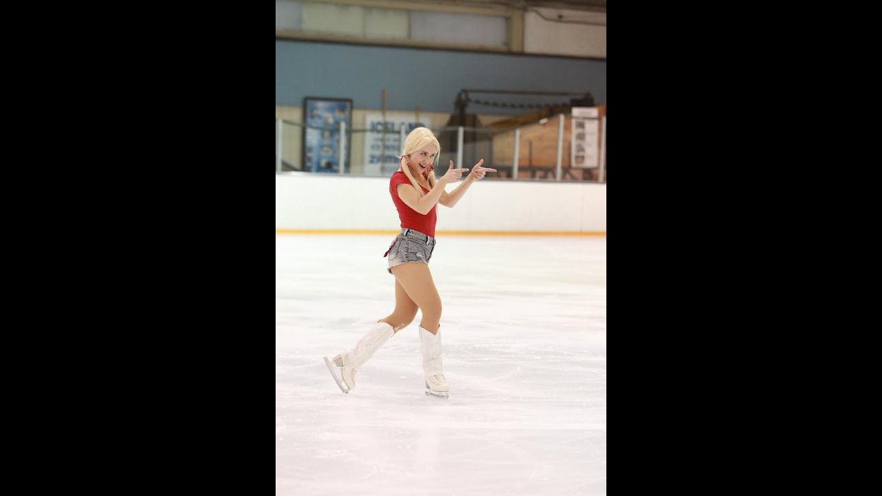 Bikini ice skating