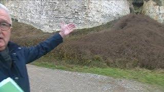 La falaise recule encore à Criel sur Mer (Seine-Maritime)