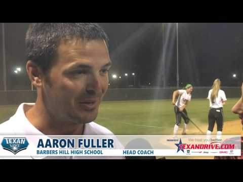 Post Game Interview with Aaron Fuller Barbers Hill Softball Head Coach  3.22.2016