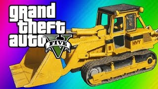 GTA 5 Online: 2 Fun Jobs! - Pool Divers & Vehicle Bouncy Castle! (GTA 5 Funny Moments) thumbnail