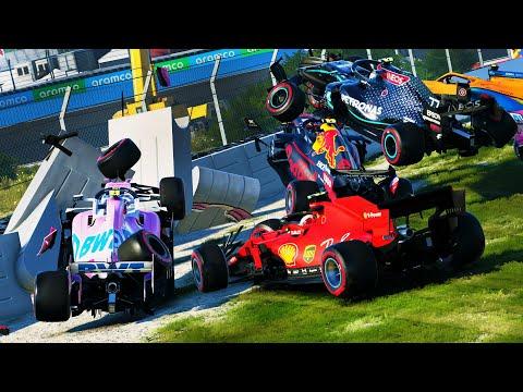 SURVIVE FORMULA NASCAR, NO GRIP & HARDCORE DAMAGE MOD!   F1 2020  