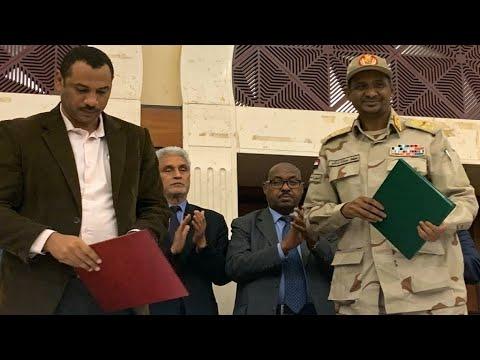 اتفاق -تاريخي- بين المجلس العسكري السوداني والمعارضة  - نشر قبل 24 دقيقة