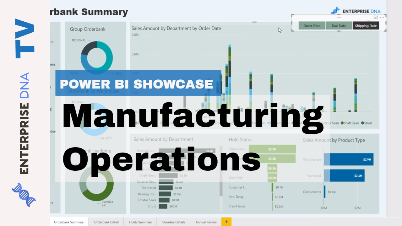 Manufacturing Operations - Power BI Showcase