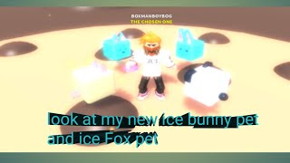 Roblox cookie simulator part 6: look at my new ice bunny and ice fox