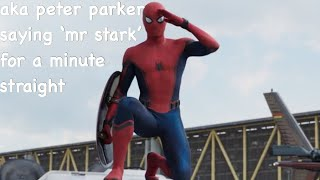 every time peter parker says 'mr stark'