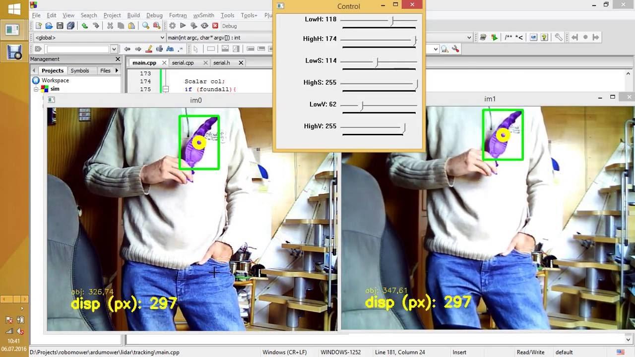 opencv stereo camera object displacement measuring (minoru webcam)