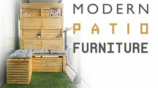 DIY Modern Patio Furniture | Outdoor Sectional