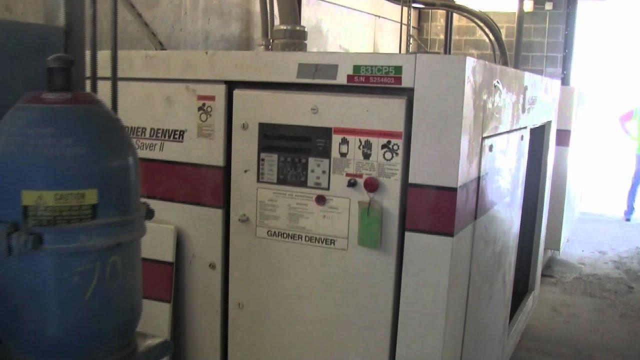 gardner denver saver ii 200hp rotary screw air compressor rh youtube com gardner denver electra saver manual