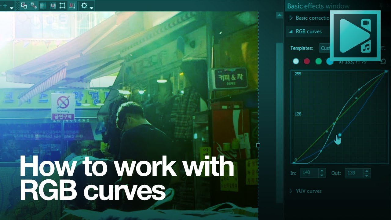 How to work with RGB curves in VSDC Free Video Editor