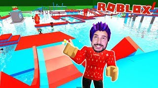 Roblox: FROM WIPEOUT AQUAPARK! DO I MAKE IT WITHOUT A DEATH? Obby Water Park