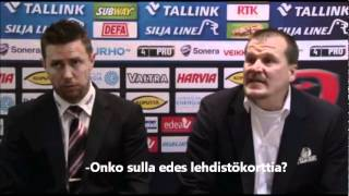 Valetoimittaja suututtaa Suikkasen SM-Liiga 2012 Finaalit