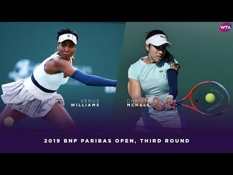Venus Williams vs. Christina McHale | 2019 BNP Paribas Open Third Round | WTA Highlights