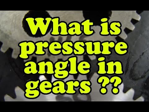 what is pressure angle in hindi | significance of pressure angle in gears |  define pressure angle