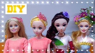 Barbie cùng các bạn làm BĂNG ĐÔ CÀI TÓC SIÊU XINH / DIY Miniature Doll Mini Headband  Ami DIY
