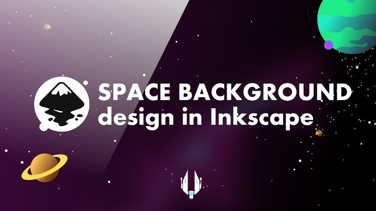 Space game background design with Inkscape! – time lapse version