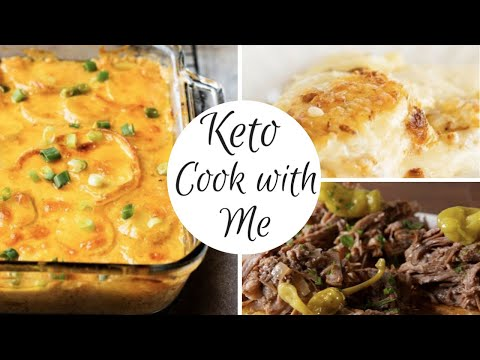 WHAT I EAT TO LOSE WEIGHT 2020 / EASY KETPO RECIPES / KETO SCALLOPED FAUXTATOES