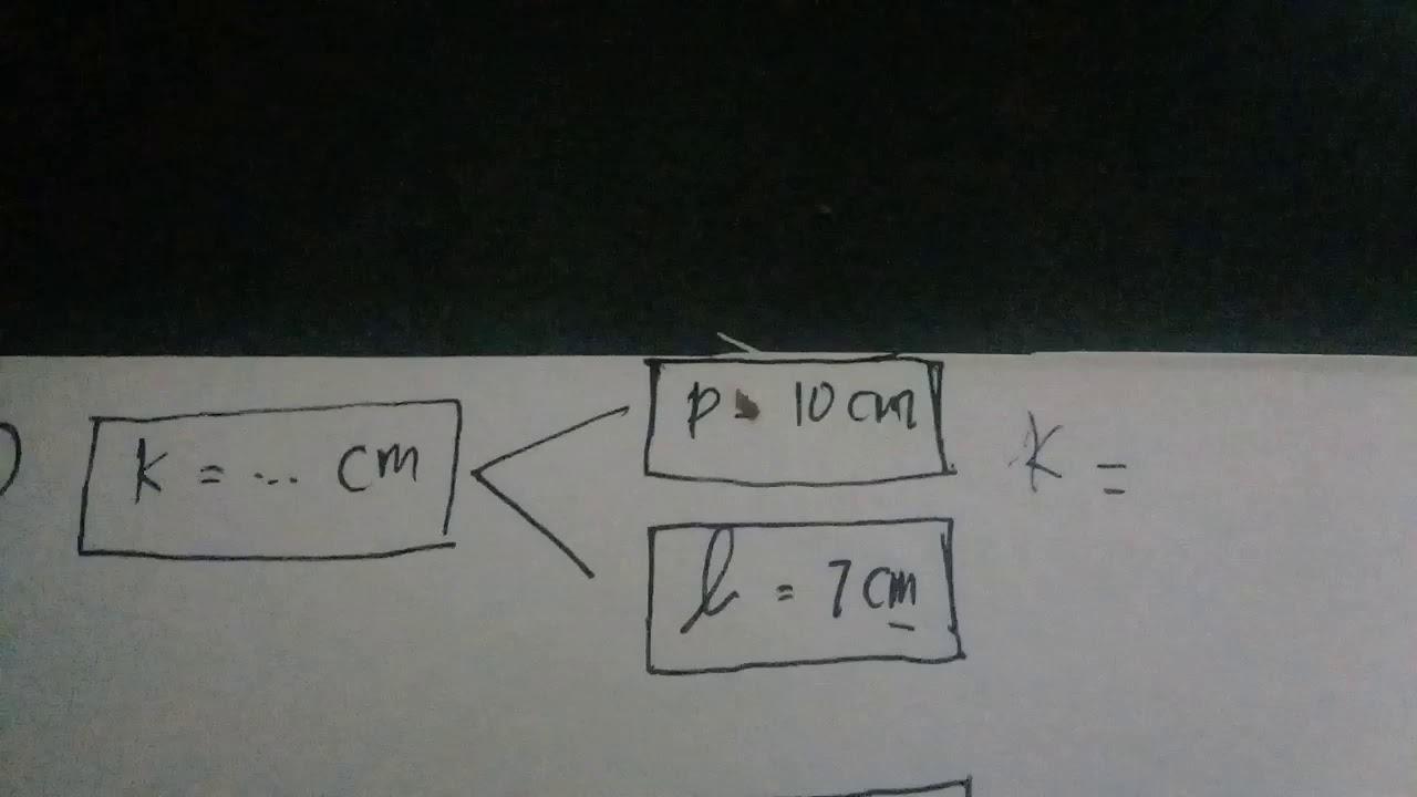 menghitung keliling persegi panjang dan dan panjang sisi ...