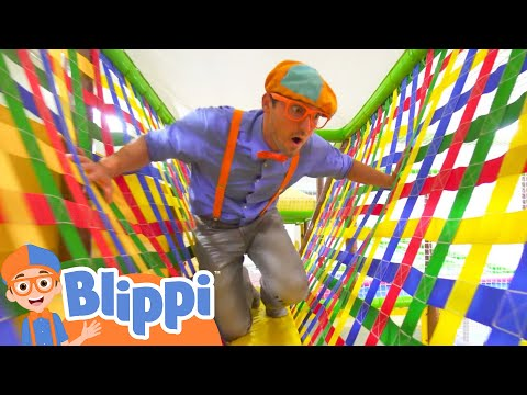 Learning With Blippi At An Indoor Playground For Kids | Educational Videos For Toddlers - Видео онлайн