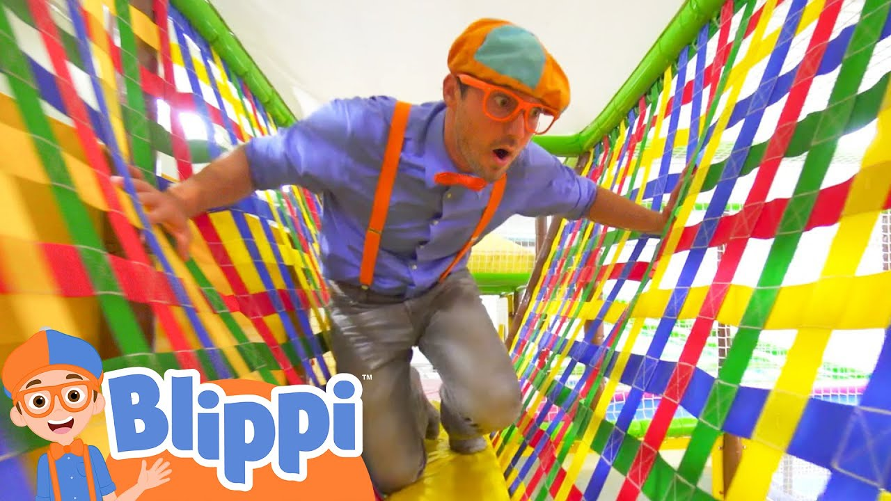 Learning With Blippi At An Indoor Playground For Kids Educational Videos For Toddlers Youtube