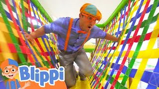 Learning With Blippi At An Indoor Playground For Kids | Educational Videos For Toddlers
