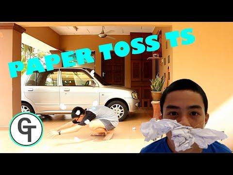 PAPER TOSS TRICK SHOT I GENIUS TRICK