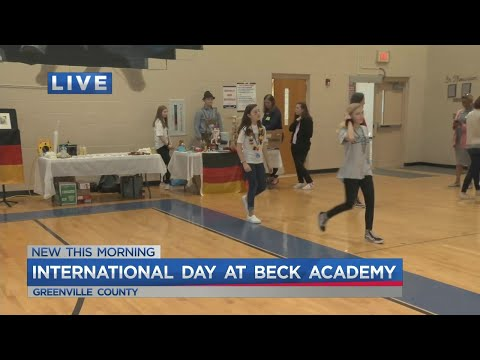 It's International Day at Beck Academy and Isaac is telling us how students are learning more about