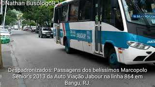 Despadronizados: Passagens dos Marcopolo Senior's MB LO916 Bluetec 5 da Auto Viação Jabour linha 864