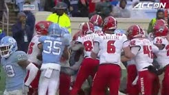 NC State vs UNC fight at end of 2018 football game