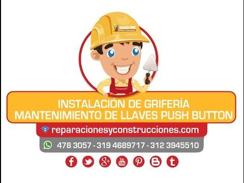 Instalaci n griferia llave de lavamanos push button for Llaves para lavamanos