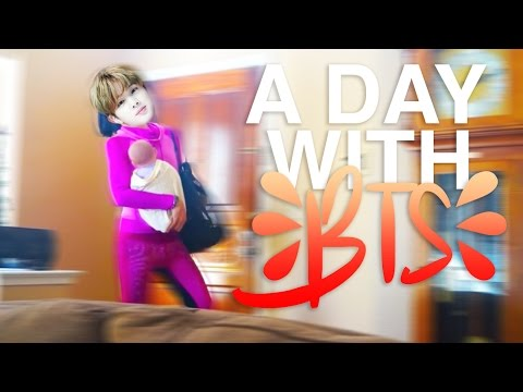 A DAY WITH BTS (crack)