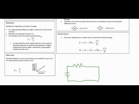Regents Physics Review -  Electricity Review Part 1 Basic Electricity