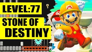 SUPER MARIO MAKER 2 - LEVEL 77: Stone of Destiny Completed