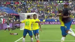 vuclip ملخص مباراة البرازيل والمكسيك 2_0 دور 16 كأس العالم 2018 جنون المعلق حفيظ الدراجي