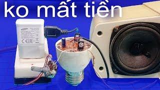 Cách làm mạch loa ampli đơn giản nhất, dùng 5v bộ sạc điện thoại và D882  Simple speaker circuit