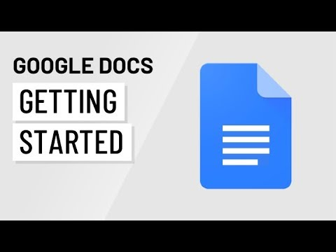 Google Docs: Getting Started - YouTube