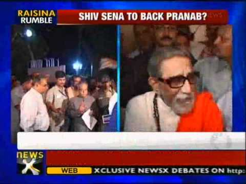 Presidential poll: Shiv Sena to back Pranab, claim sources - NewsX