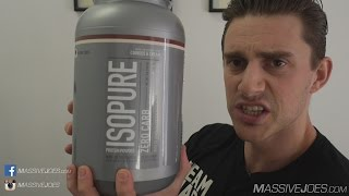 IsoPure Zero Carb Whey Protein Isolate Powder Review - MassiveJoes.com Raw Nature