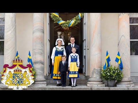 Kronprinsessfamiljen önskar glad