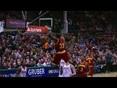 Gee POWERFUL Hammer | Cleveland Cavaliers Vs Milwaukee Bucks | 11/03/2012 | NBA Season 2012-13