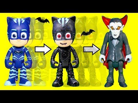 PJ Masks Catboy and Paw Patrol Rubble get Spooky Transformation at Vampirina BnB