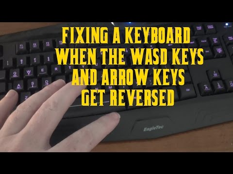 How To Fix a Keyboard When The WASD Keys & Arrow Keys Get Flipped