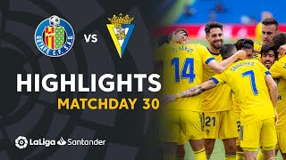 Highlights Getafe CF vs Cádiz CF (0-1)