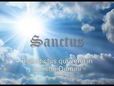 Canto gregoriano - Sanctus  (Video with lyrics/ video con letra)