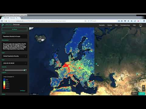 Query For A Rectangular Area: Population Density In Europe